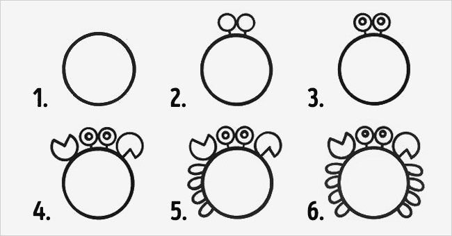 come disegnare un granchio