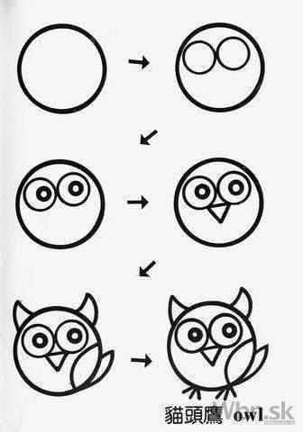 come disegnare una civetta