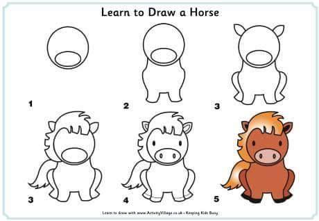 come disegnare un pony