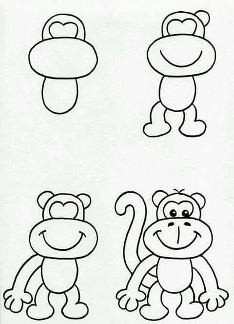 come disegnare una scimmia