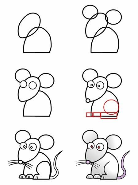 come disegnare un topo