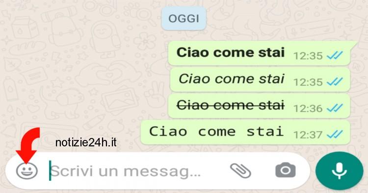 casella di testo whatsapp