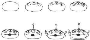 come disegnare un extraterrestre