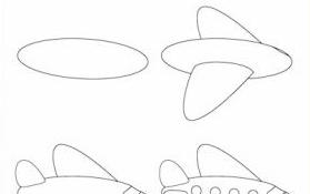 come disegnare un aereo
