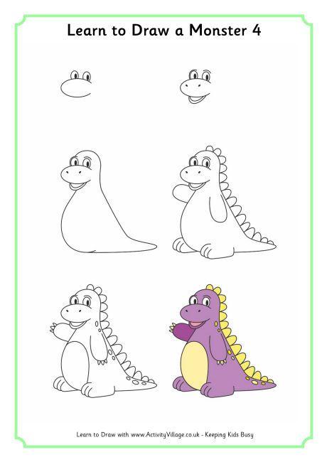 come disegnare un dinosauro