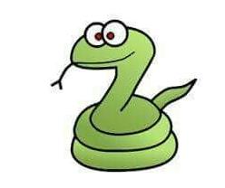 disegno serpente
