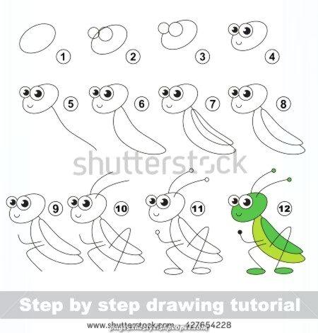 come disegnare un grillo