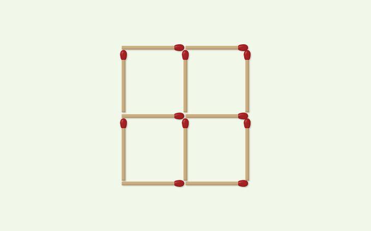 giochi di logica: muovi 3 fiammiferi